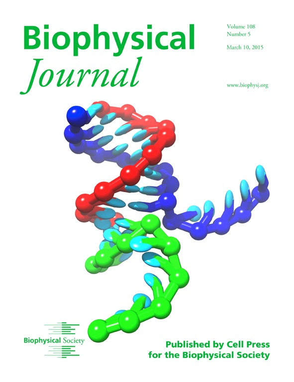 Cover of Biophys J, volume 108, issue 5