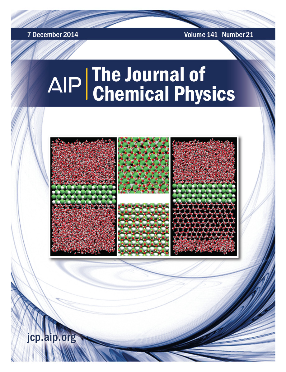Cover of J Chem Phys, volume 141, issue 21
