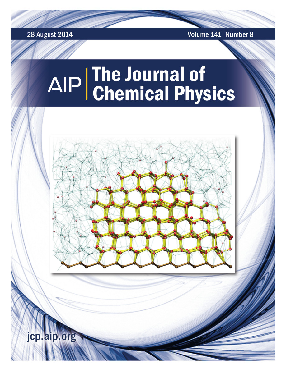 Cover of J Chem Phys, volume 141, issue 8